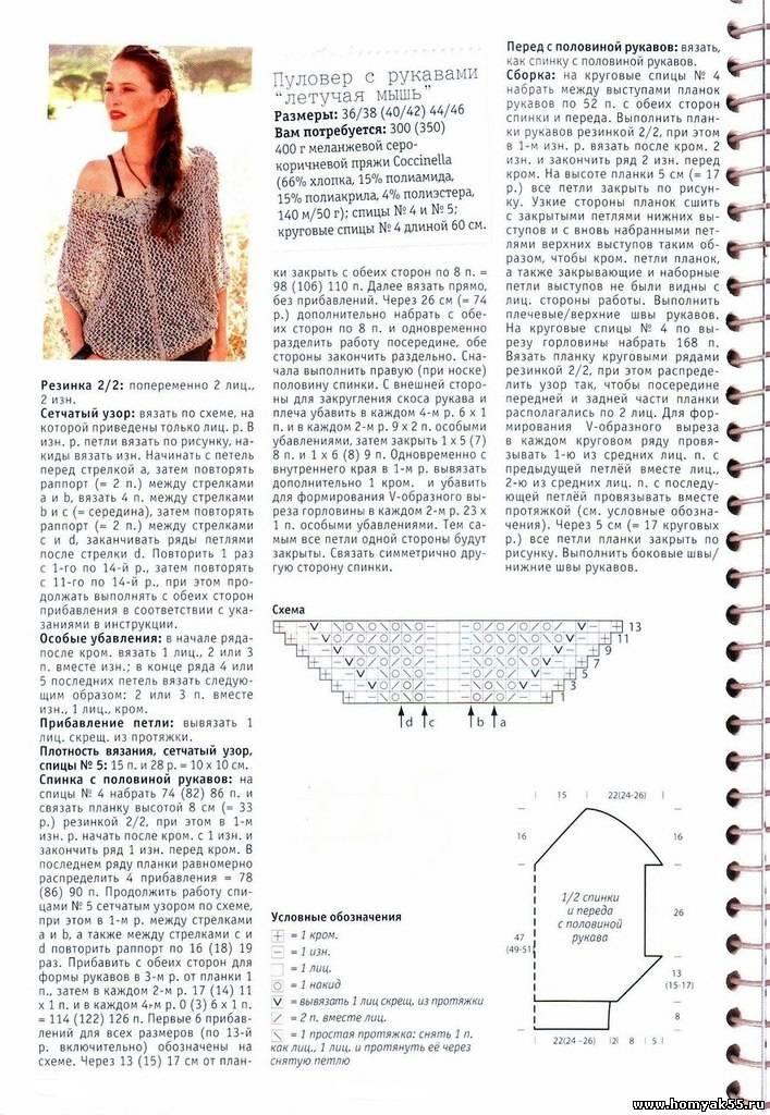 Джемпер женский спицами схемы и описание 2018 (фото 22)