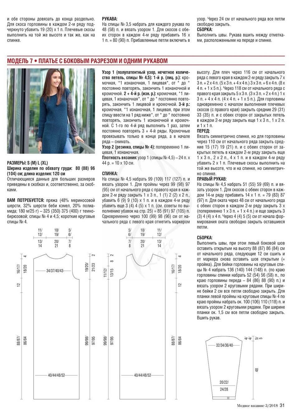 Джемпер женский спицами схемы и описание 2018 (фото 17)