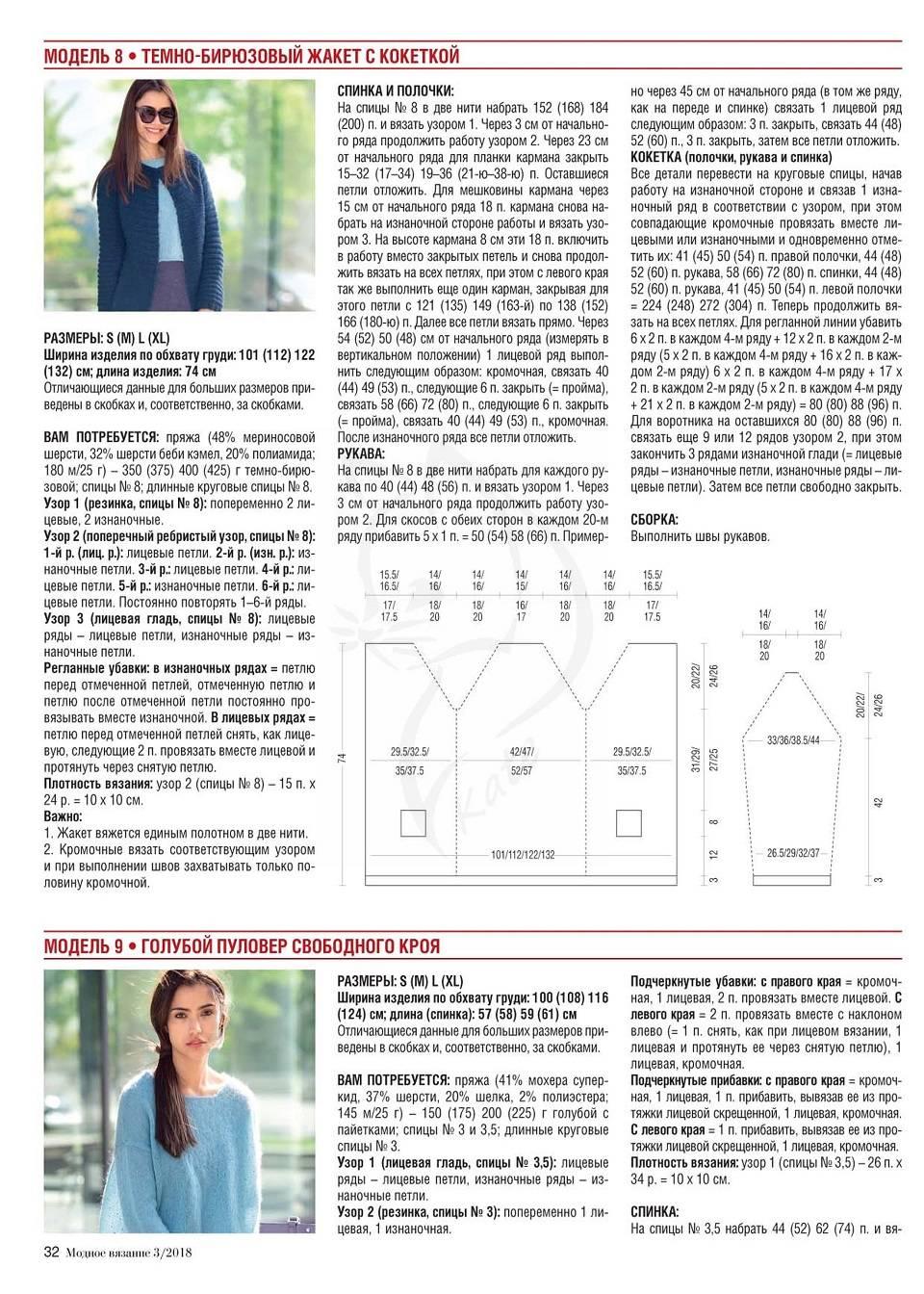 Джемпер женский спицами схемы и описание 2018 (фото 18)