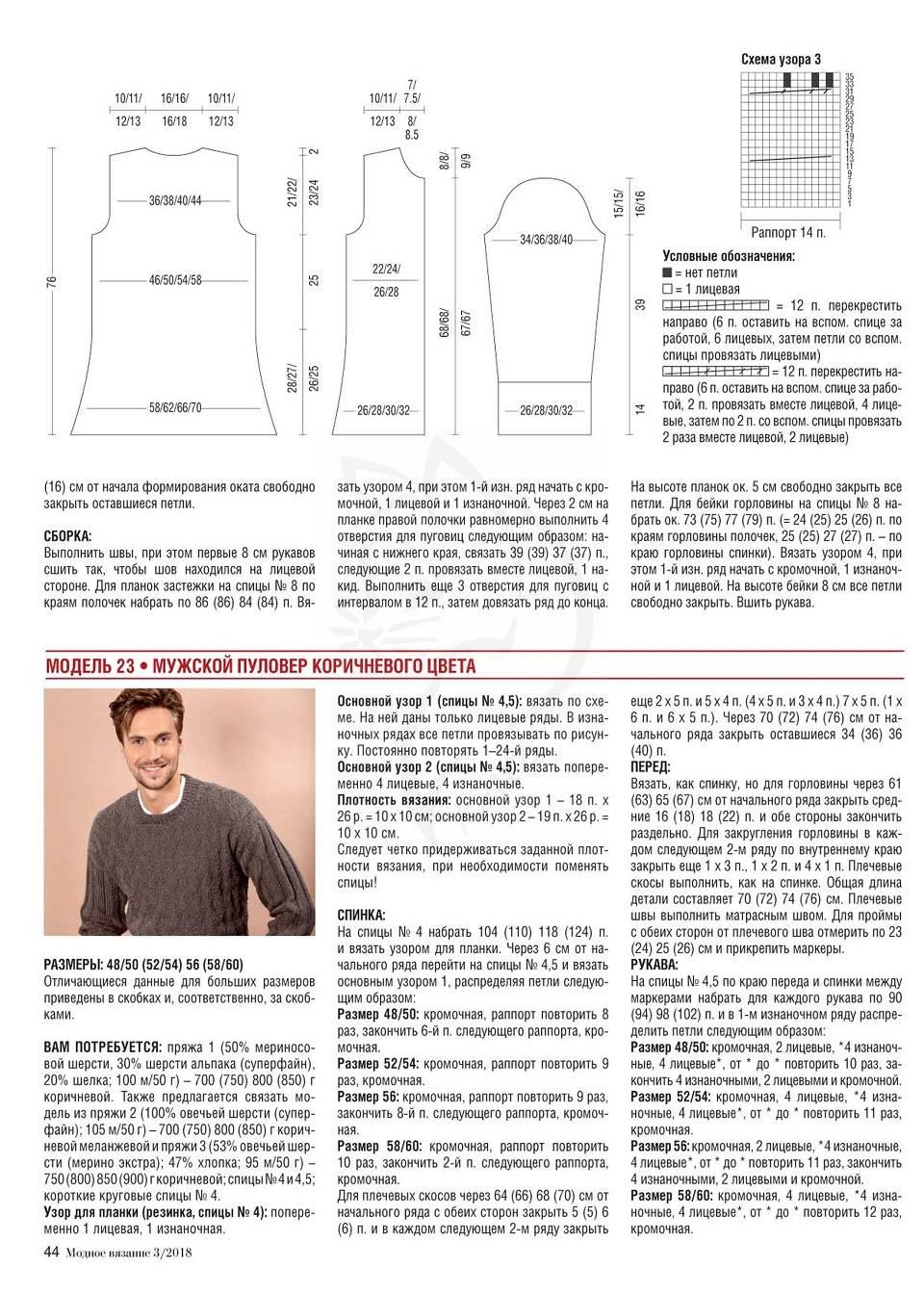 Кофта спицами для женщин: схема 10