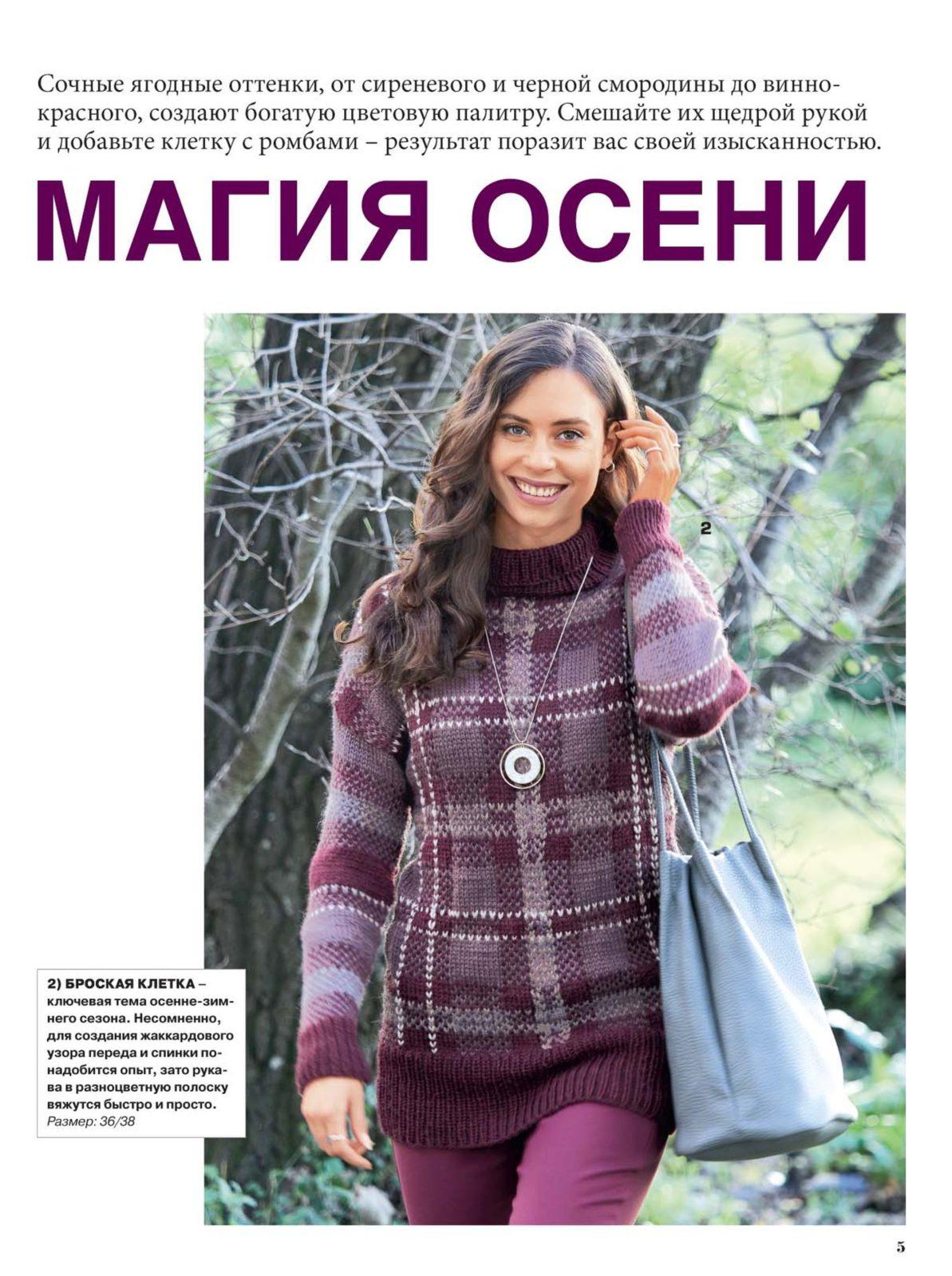 Связать свитер спицами для женщины: модель 3