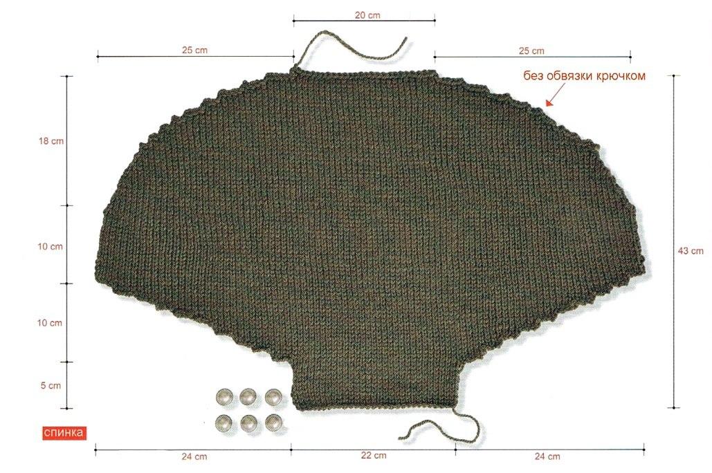 Манишка спицами для женщин: мастер-класс (фото 1)