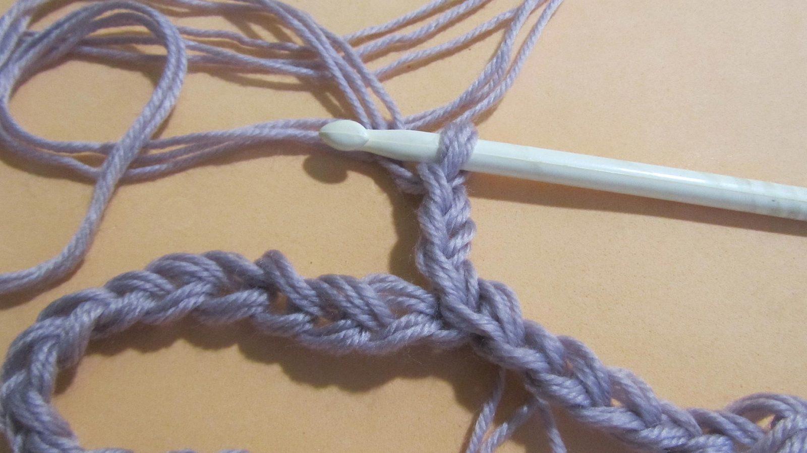 Узоры крючком: узоры для снуда шаг 3