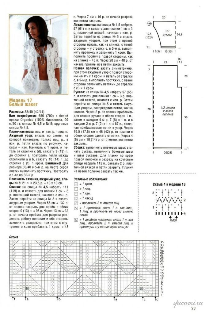 Кофта спицами для женщин: схема 8