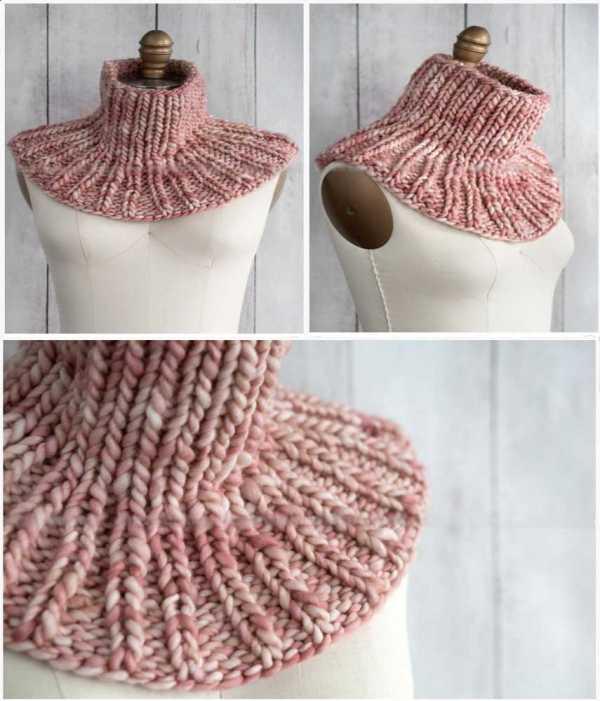 Манишка спицами для девочки: крупная вязка