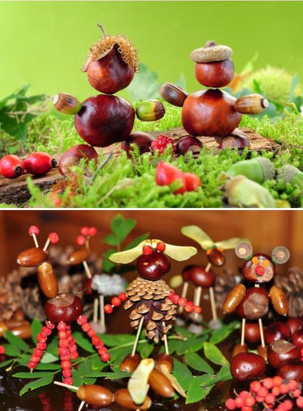 Поделки из шишек на тему осень: фото 8