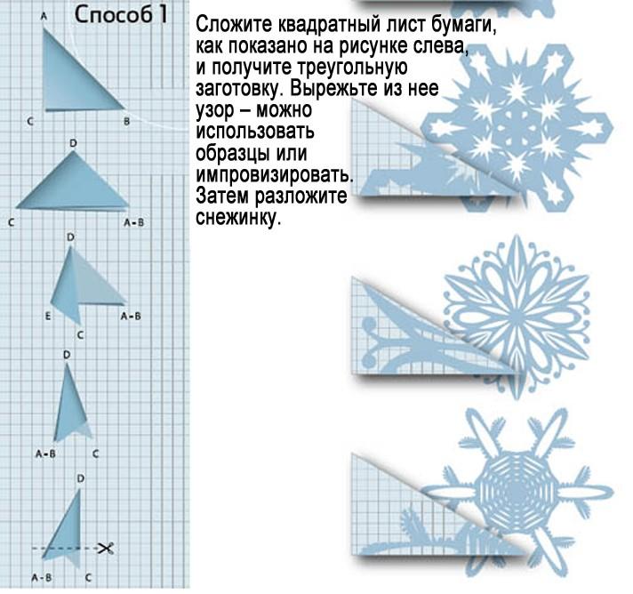Снежинки из бумаги: шаблоны для вырезания (2)