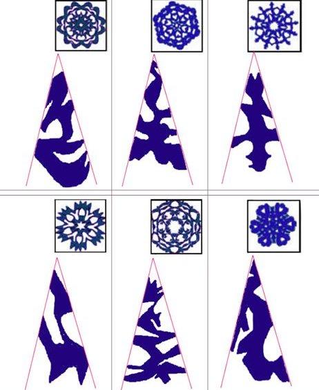 Снежинки из бумаги: шаблоны для вырезания (4)