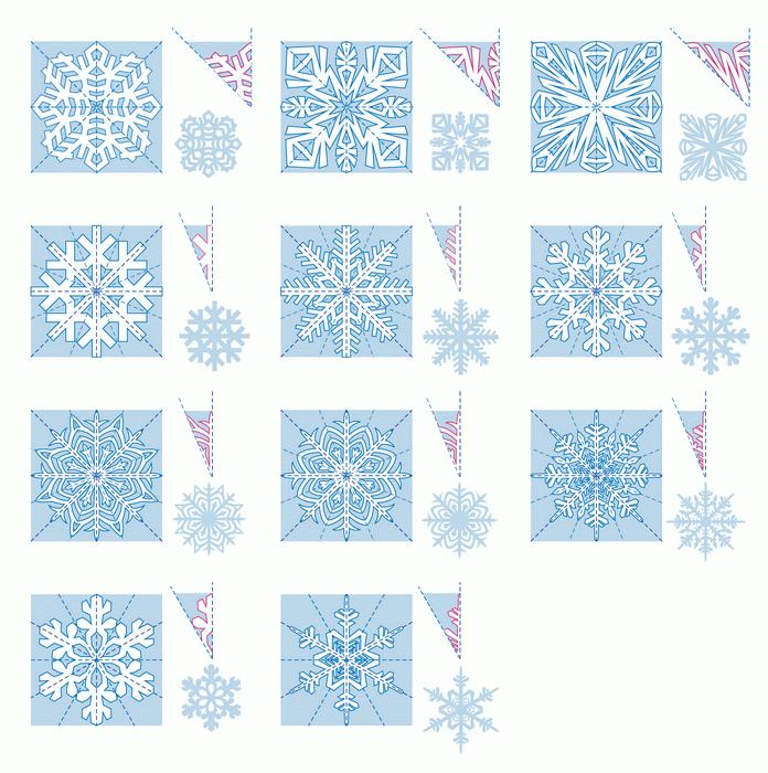 Снежинки из бумаги: шаблоны для вырезания (3)