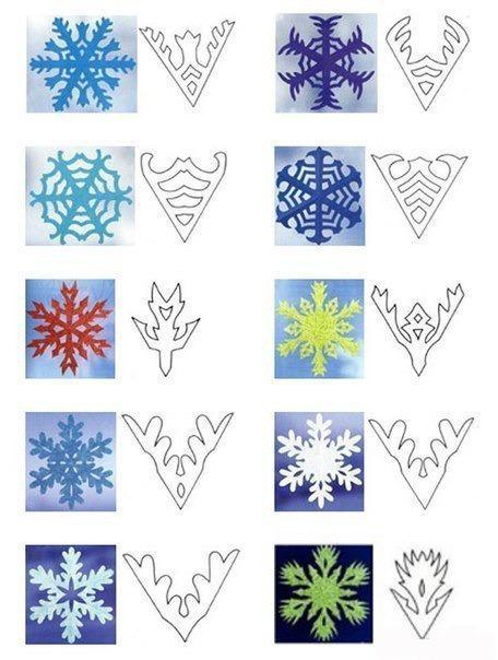Снежинки из бумаги: шаблоны для вырезания (1)