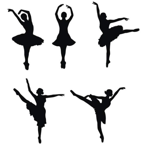 Снежинки-балеринки из бумаги: шаблон 5