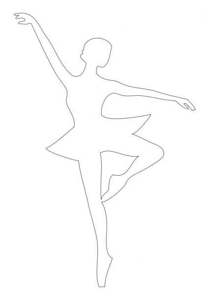 Снежинки-балеринки из бумаги: шаблон 6