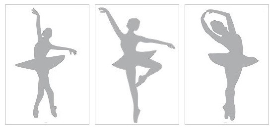 Снежинки-балеринки из бумаги: шаблон 7