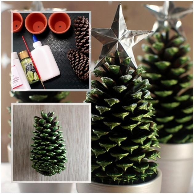 Как сделать елку из шишек - фото 1