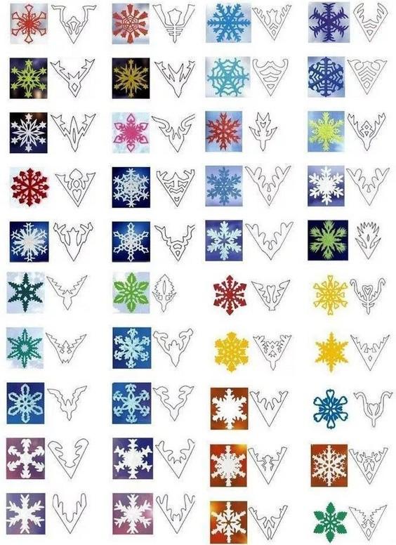 Как сделать снежинку из бумаги: шаблон 15