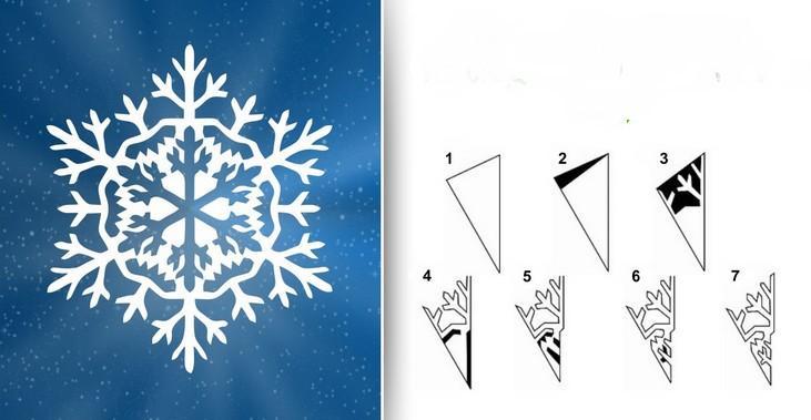 Снежинки из бумаги: шаблоны для вырезания (5)