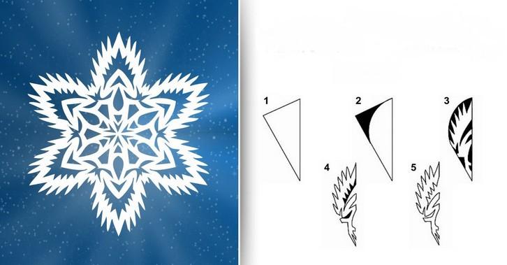 Снежинки из бумаги: шаблоны для вырезания (6)