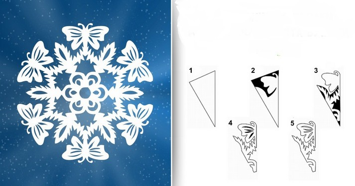 Снежинки из бумаги: шаблоны для вырезания (7)