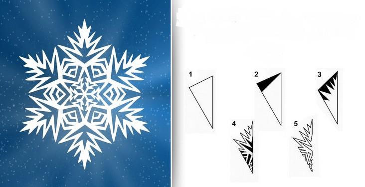 Снежинки из бумаги: шаблоны для вырезания (8)