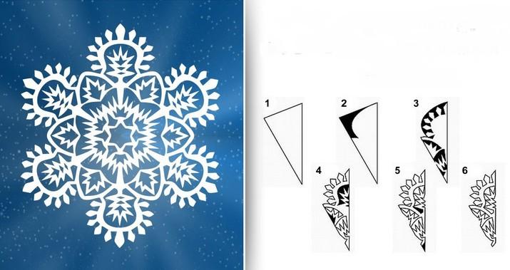 Снежинки из бумаги: шаблоны для вырезания (10)