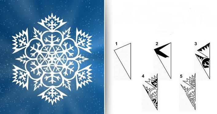 Снежинки из бумаги: шаблоны для вырезания (9)