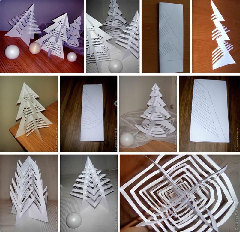 Объемная елка из бумаги своими руками: фото 7