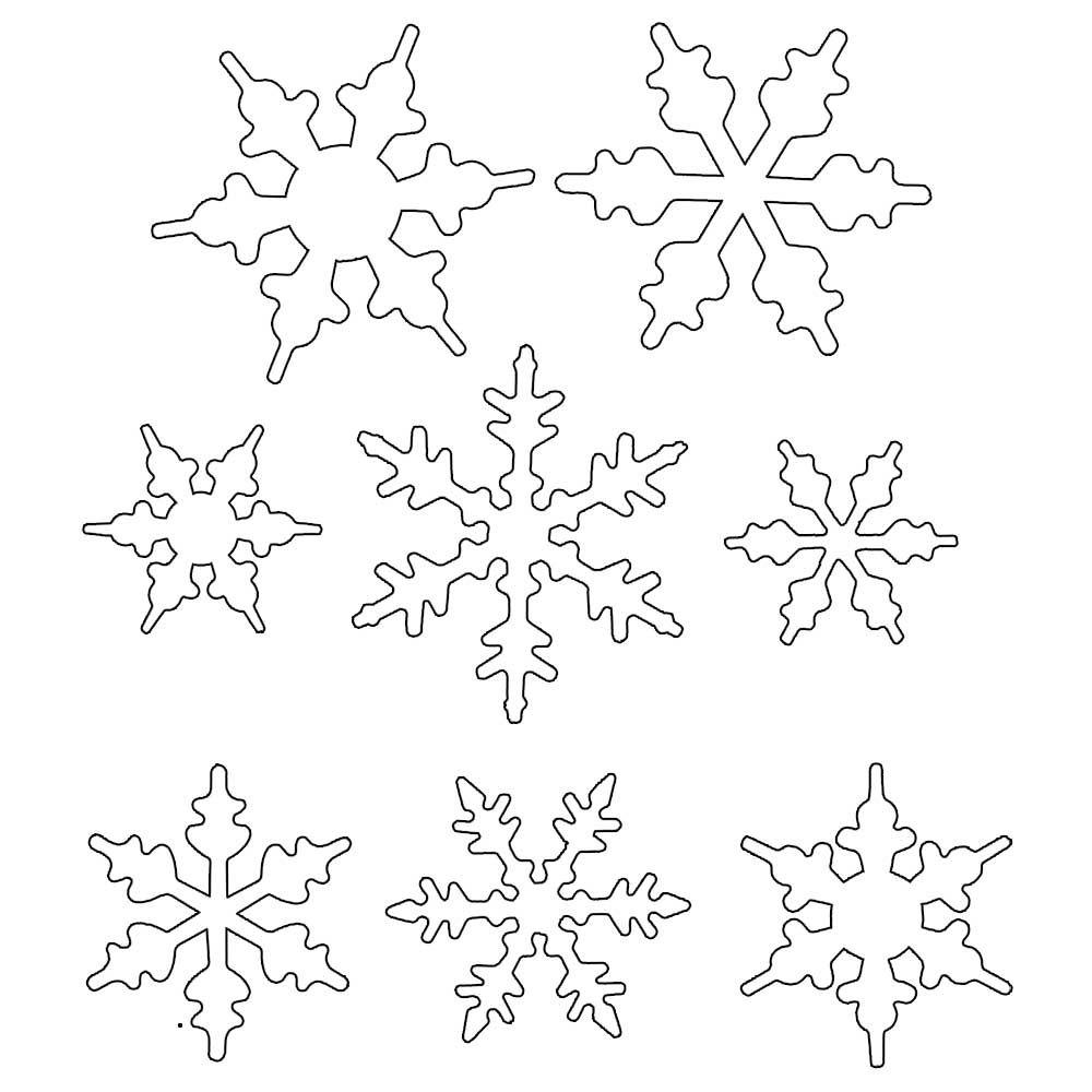 Снежинки из бумаги: шаблоны для вырезания (14)