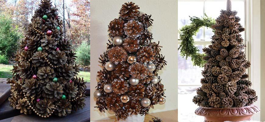 Как сделать елку из шишек - фото 4