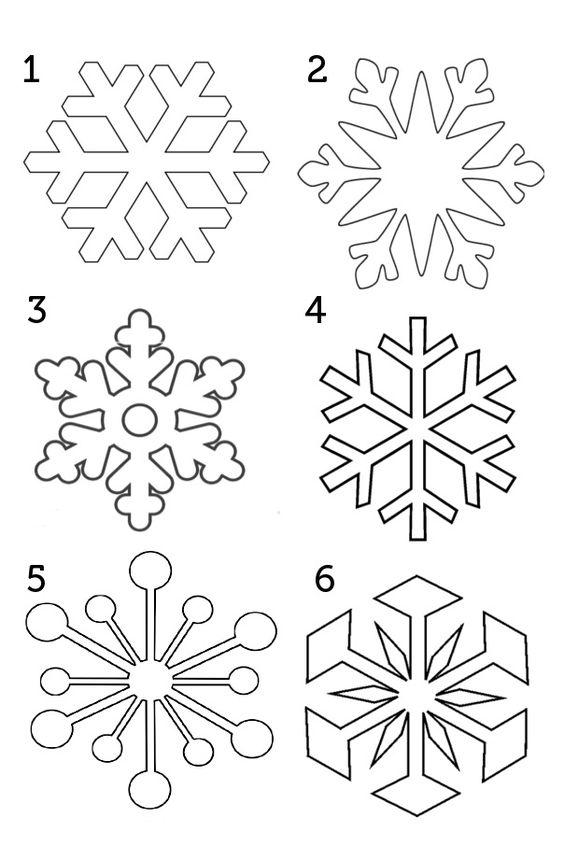 Снежинки из бумаги: шаблоны для вырезания (13)