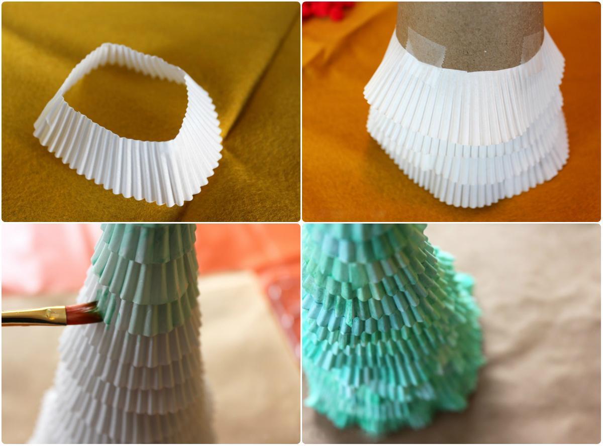 Объемная елка из бумаги своими руками: фото 9