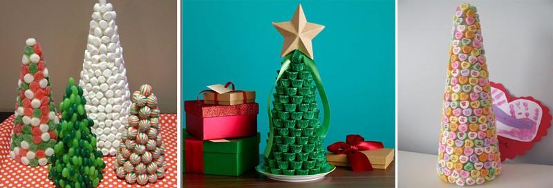 Как сделать елку из конфет - фото 2