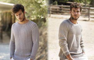 2 модели мужского свитера