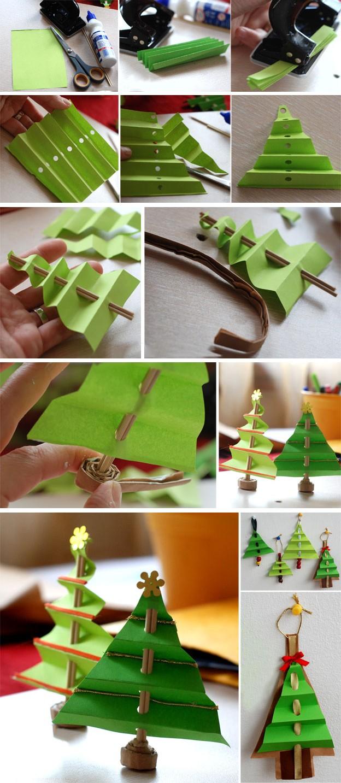 Объемная елка из бумаги своими руками: фото 5