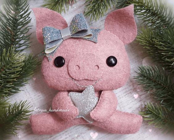 Символ 2019 года желтой свиньи своими руками: новогодняя