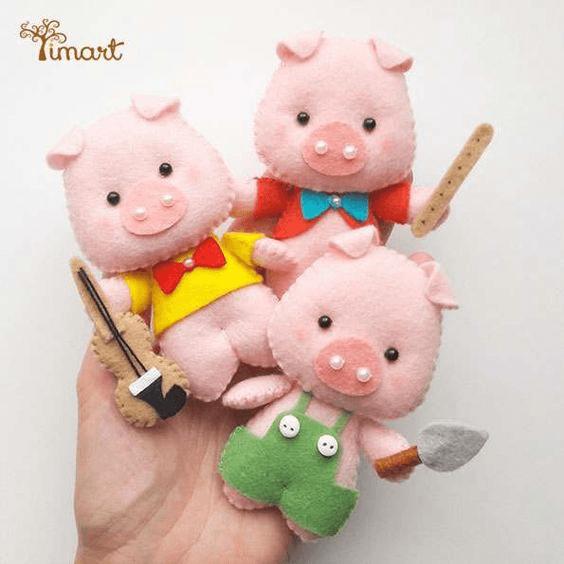 Символ 2019 года желтой свиньи своими руками: поросята