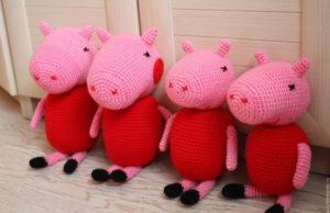 Свинка Пеппа амигуруми