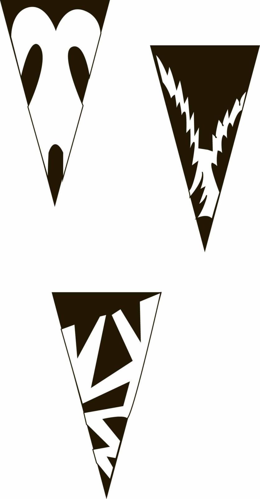 Снежинки-балеринки из бумаги: шаблон 4