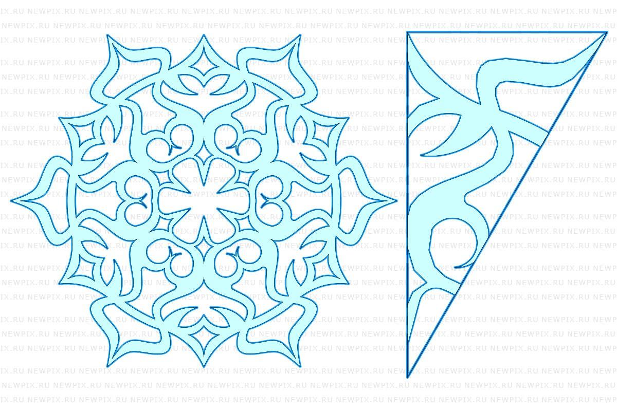 Картинки снежинок из бумаги шаблоны для вырезания