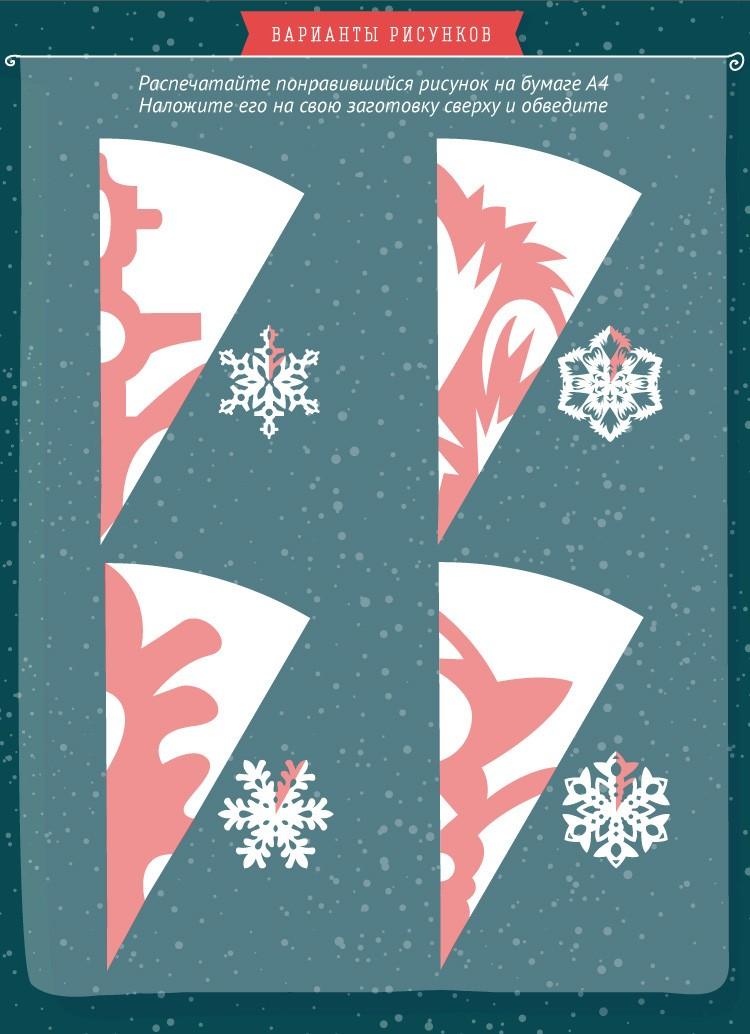 Как сделать снежинку из бумаги: узоры