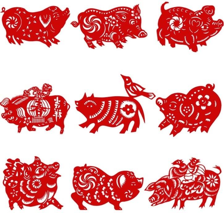 Вытынанки на 2019 год свиньи: шаблоны