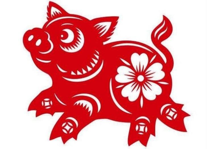 Вытынанки на 2019 год свиньи: шаблон 6