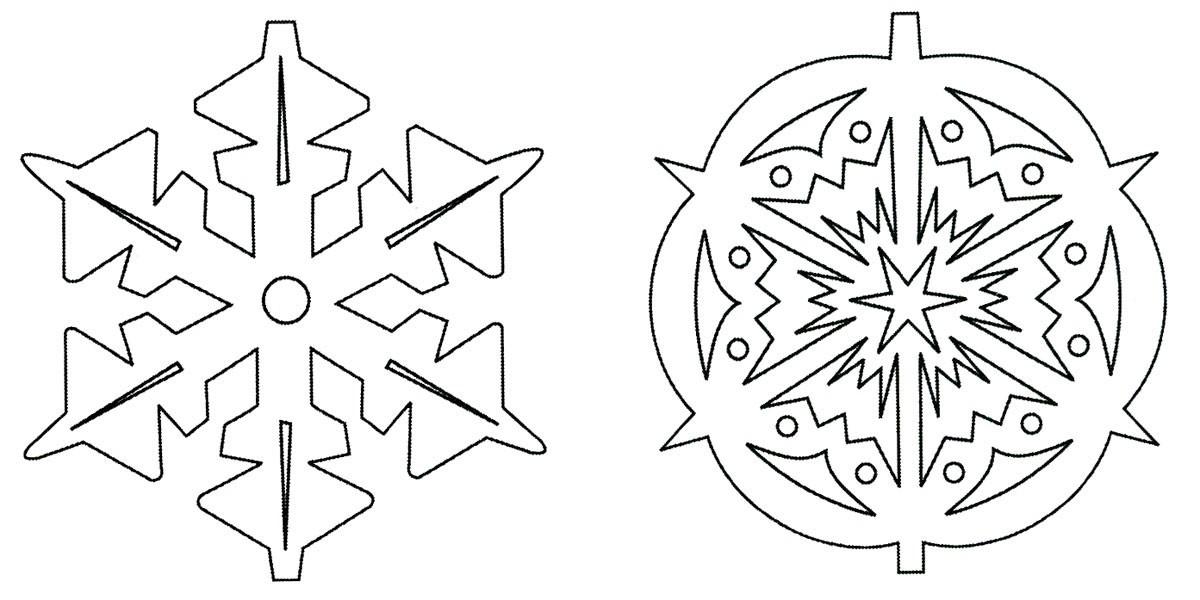 Снежинки из бумаги: шаблоны для вырезания (11)