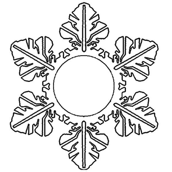 Снежинки из бумаги: шаблоны для вырезания (12)