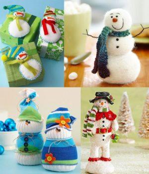 Игрушки снеговик своими руками