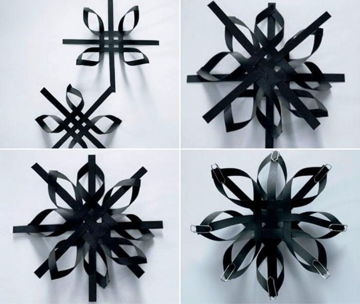 Елочные игрушки из бумаги своими руками: снежинка пошагово