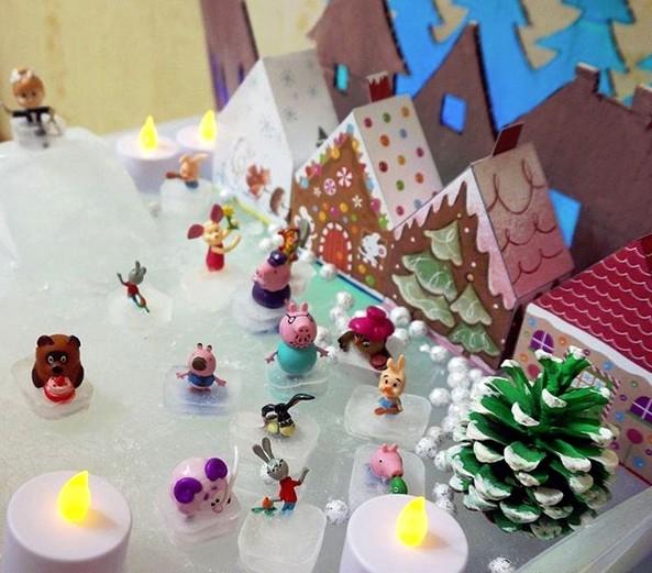 Новогодние поделки в детский сад: каток