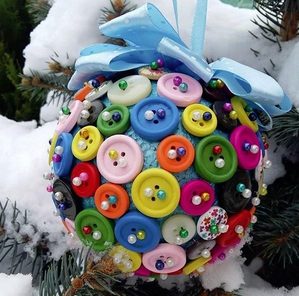 Новогодняя игрушка на елку в детский сад: шар