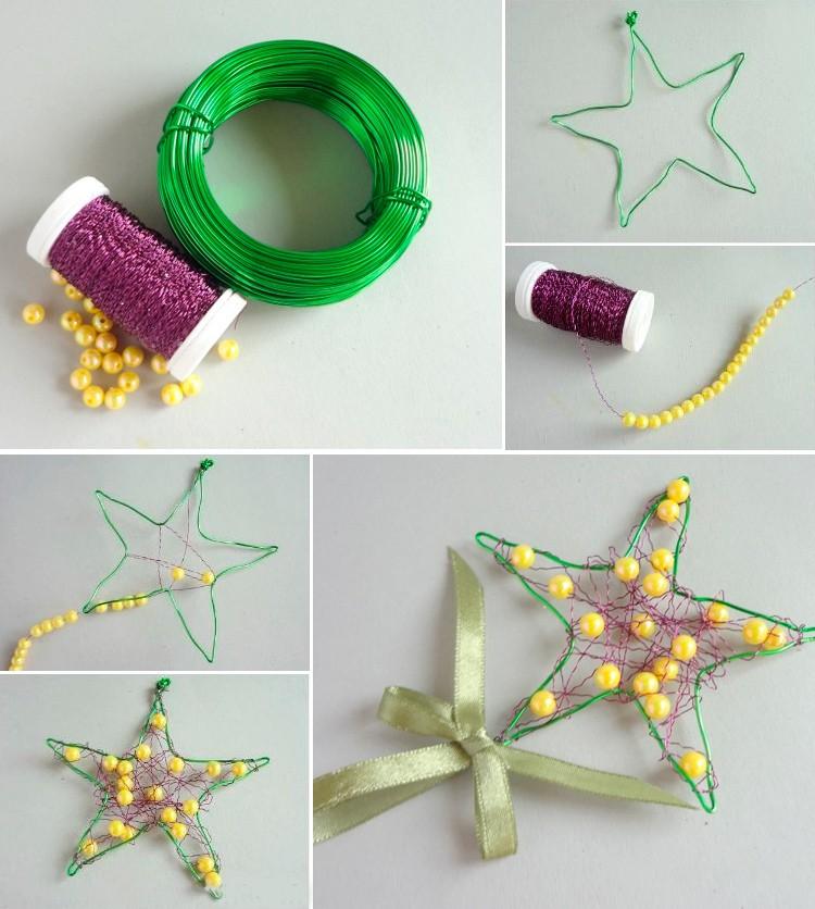 Новогодние поделки в детский сад: звезда