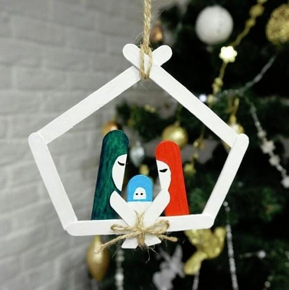 Игрушки на елку своими руками из подручных средств: фото 14