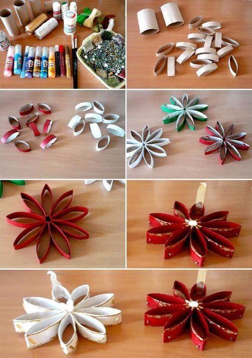 Елочные игрушки из бумаги своими руками: из втулок